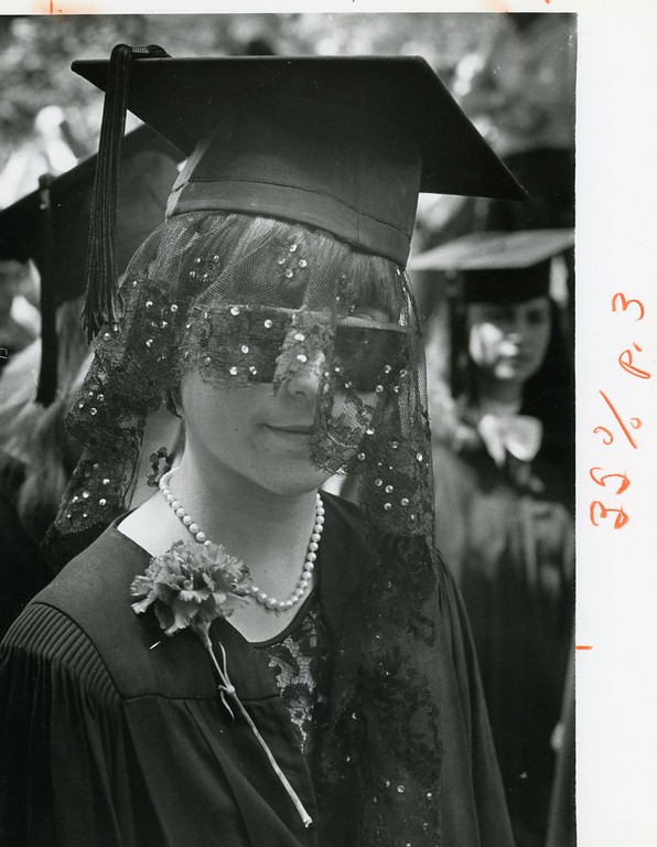 Description of . Jina Caruso, May 29, 1983. Bard College graduation.