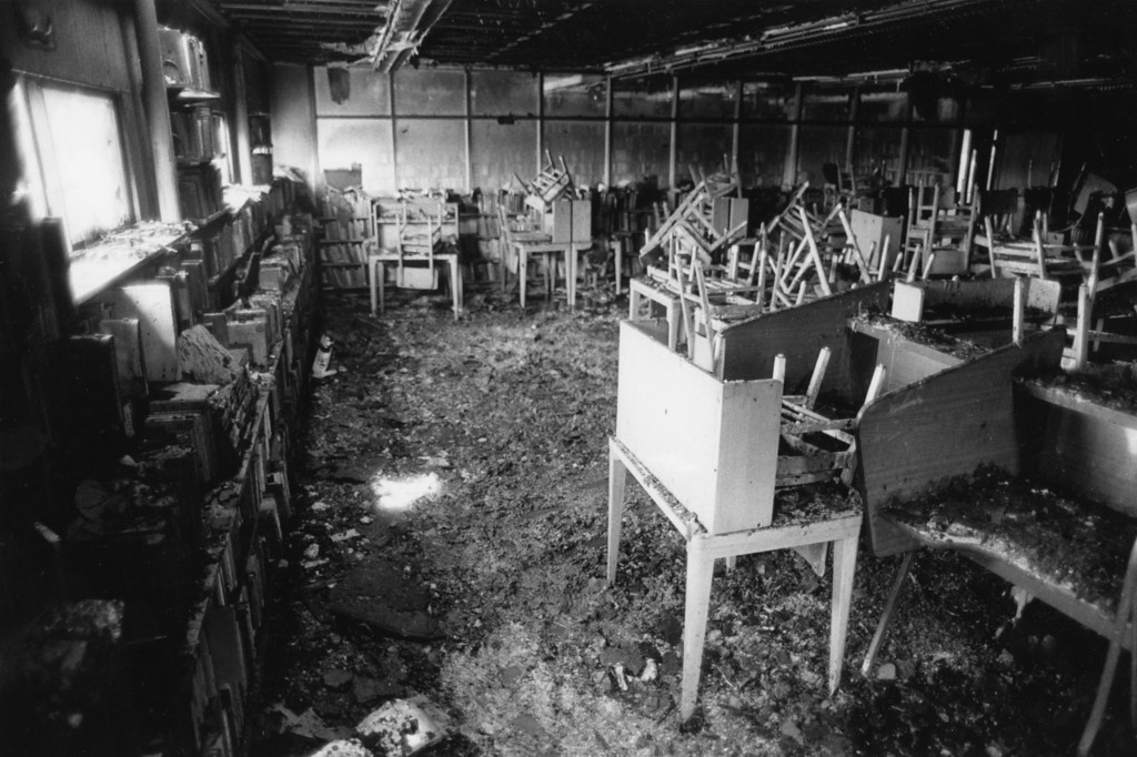 Description of . Saugerties High School fire damage, Aug. 27, 1984