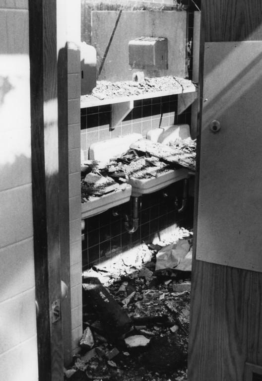 Description of . Saugerties High School fire damage, 1984