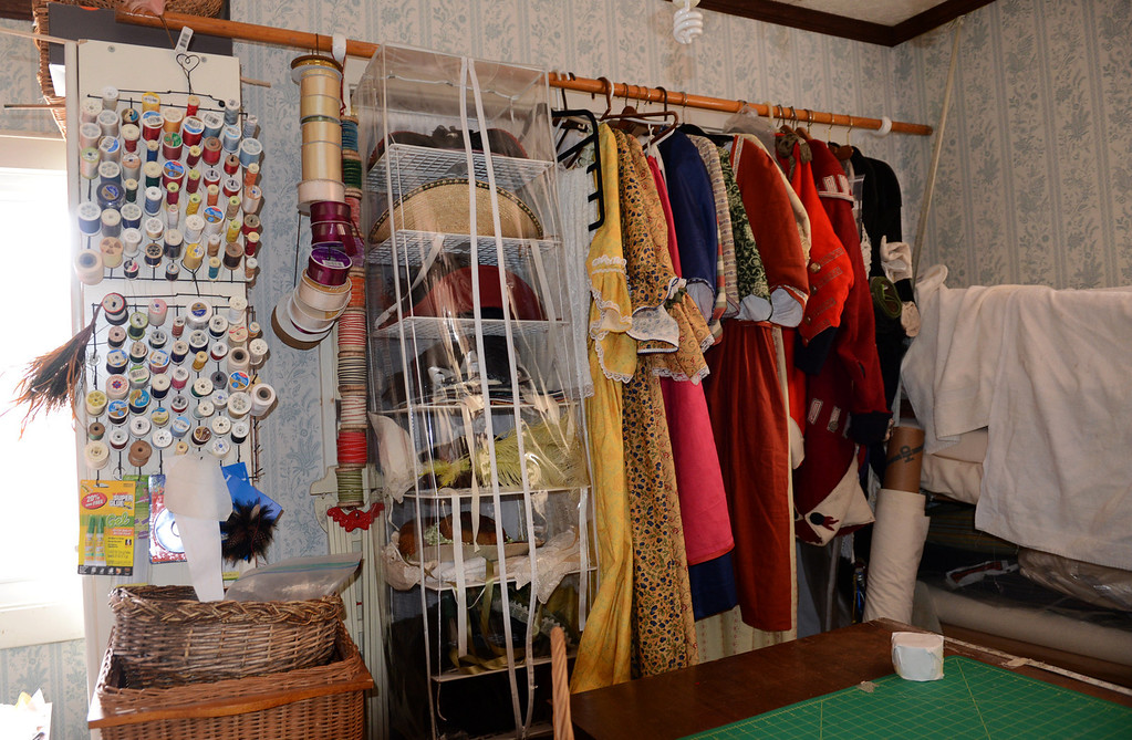 Description of . Tania Barricklo-Daily Freeman                      A sewing room upstairs where all the revolutionary period outfits are sewn.