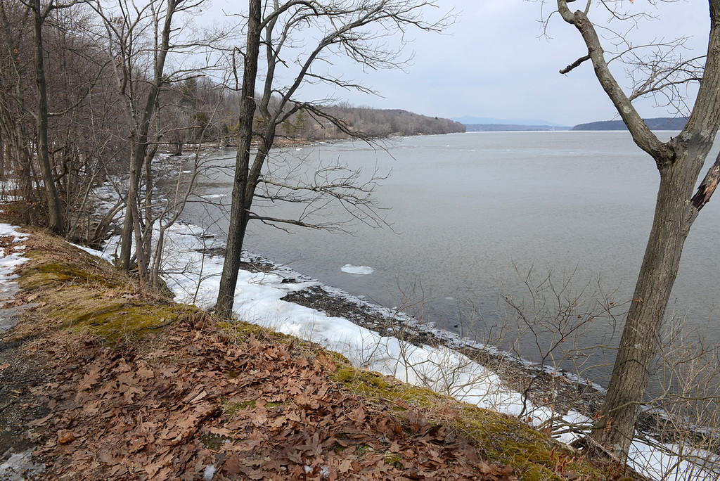 Description of . Tania Barricklo-Daily Freeman                      View overlooking the Hudson River with the Catskill Mountains in the distance as seen from the Esopus Meadows Preserve.