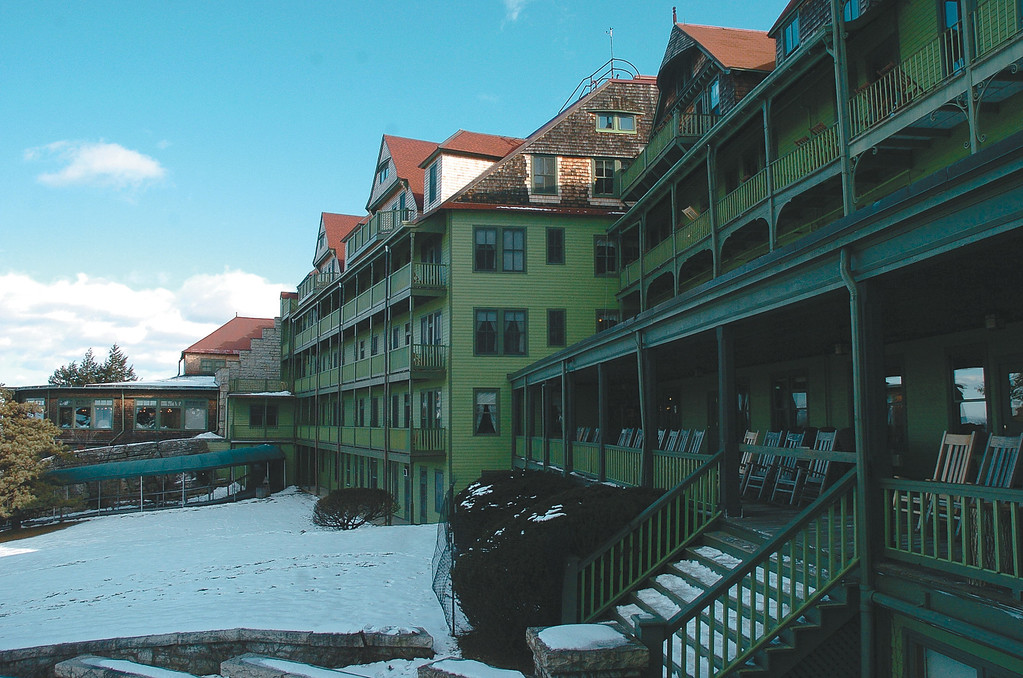 Description of . The front of Mohonk Mountain House