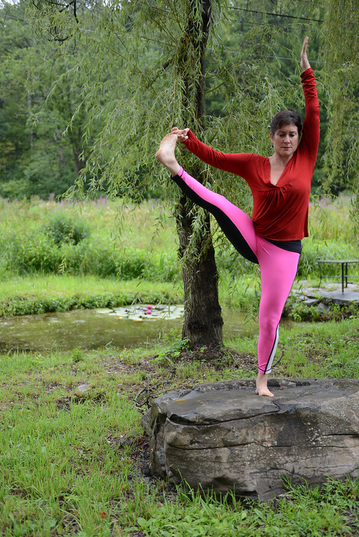 Description of . Tania Barricklo-Daily Freeman Linda Lalita Winnick of Shakti Yoga at 1685 Sawkill Rd. in Woodstock.