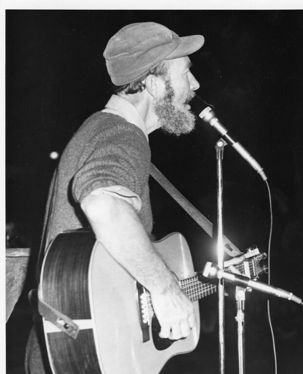 Description of . Pete Seeger. Daily Freeman photo by Bob Haines.