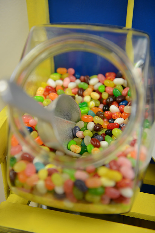 Description of . Tania Barricklo-Daily Freeman Jellybeans, an all-time favorite, can be bought by  weight at the Kingston Candy Bar.