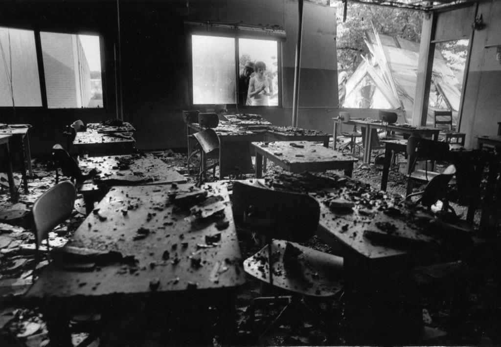. Saugerties High School fire damage, Aug. 27, 1984