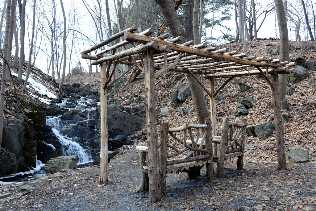 . Tania Barricklo-Daily Freeman                      A quiet spot to sit along the Father C. Jorn Trail at the Falling Waters Preserve in the town of Saugerties.