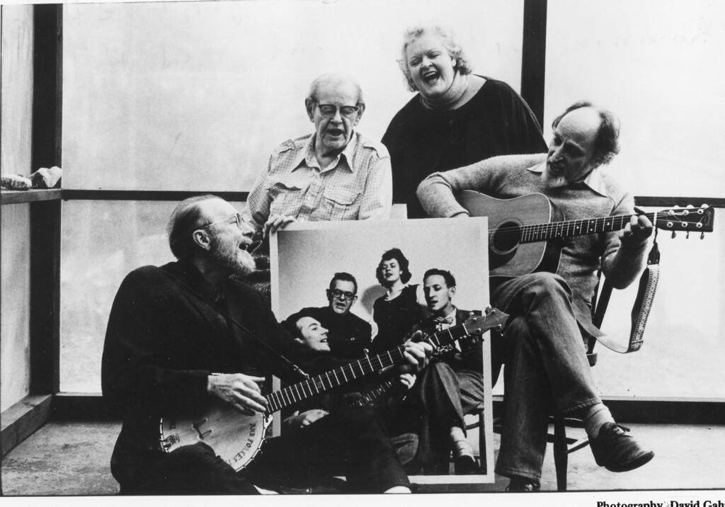 . The Weavers: Pete Seeger, Lee Hays, Ronnie Gilbert and Fred Hellerman. David Gahr photo.