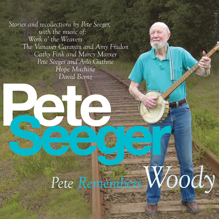 """. This CD cover image released by Appleseed Recordings shows \""""Pete Remembers Woody,\"""" one of two releases by Pete Seeger.    The American troubadour, folk singer and activist Seeger  died Monday Jan. 27, 2014, at age 94.  (AP Photo/Appleseed Recordings)"""